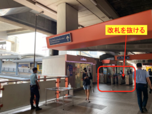 バンコク Airport Rail Link 行き方 2