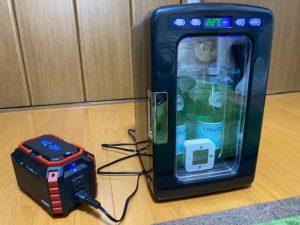 冷蔵庫冷却実験 開始