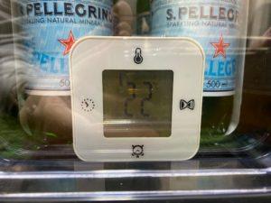 冷蔵庫冷却実験 開始 温度計