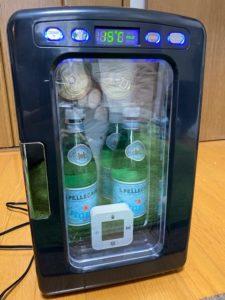 冷蔵庫冷却実験 10分後
