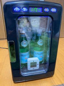 冷蔵庫冷却実験 1時間後