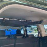 車中泊用具の収納網棚を自作DIY!車内天井を有効利用で収納力UP