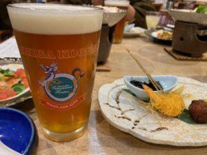 夕食 志賀地ビール1
