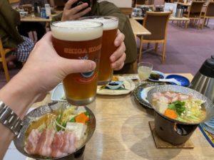 夕食 志賀地ビール2