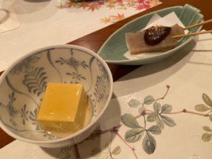 """懐石料理""""せき川"""" 1品目"""