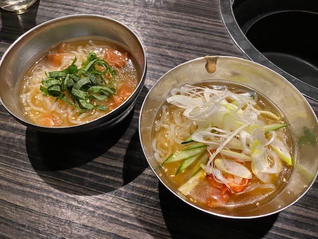 牛角プレミアムコース 冷麺(ハーフ)
