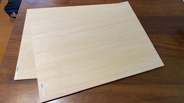 テーブルDIY ベニヤ板1