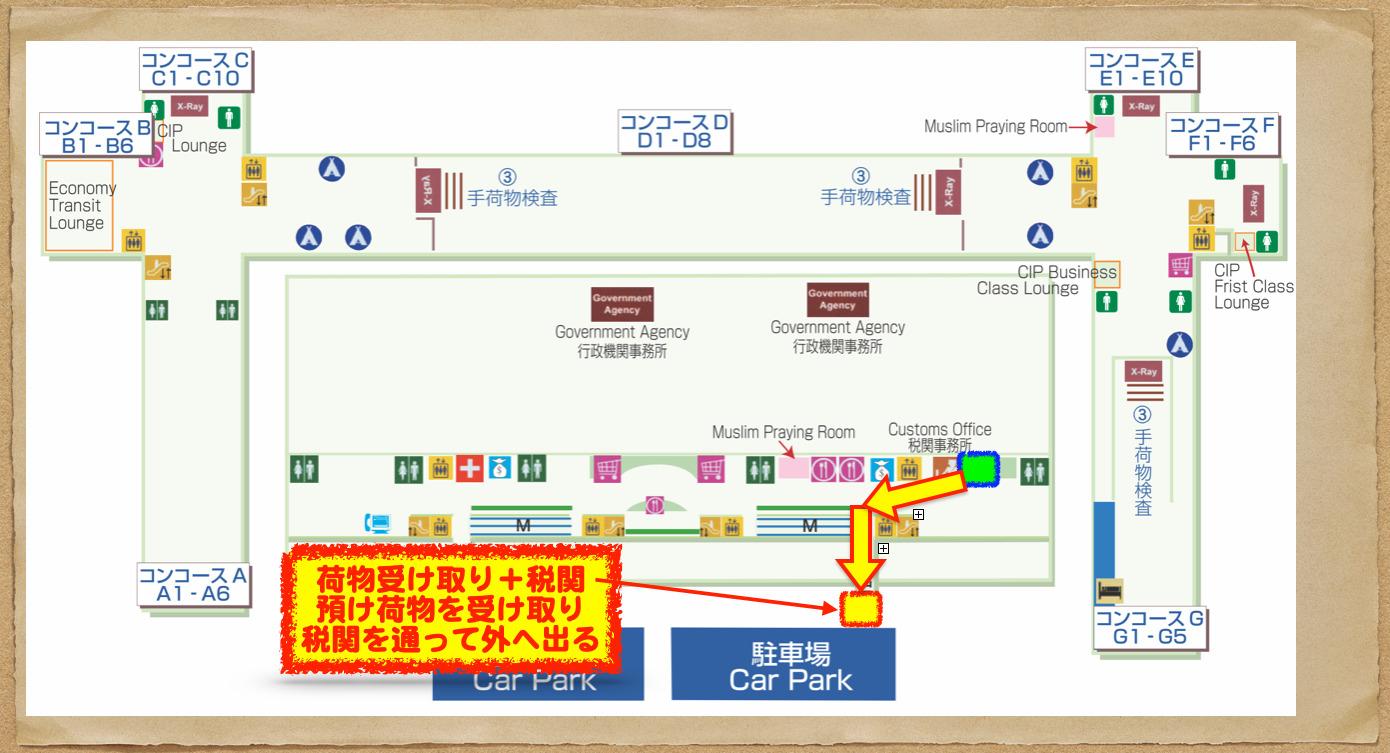 バンコク空港 入国手続き6