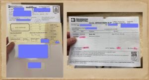 PCR検査受付書類