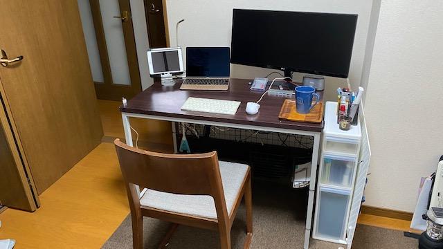 PCデスク 棚製作前1