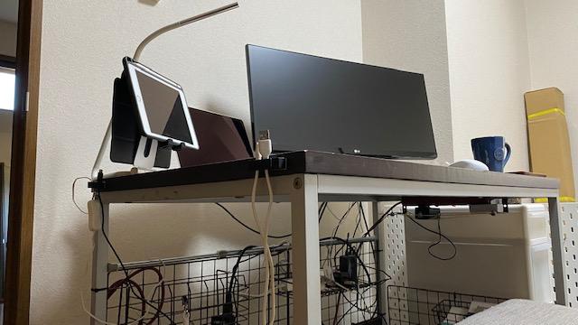 PCデスク 棚製作前2
