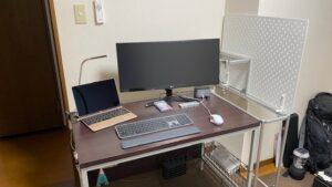 アルミパイプ PC棚製作44