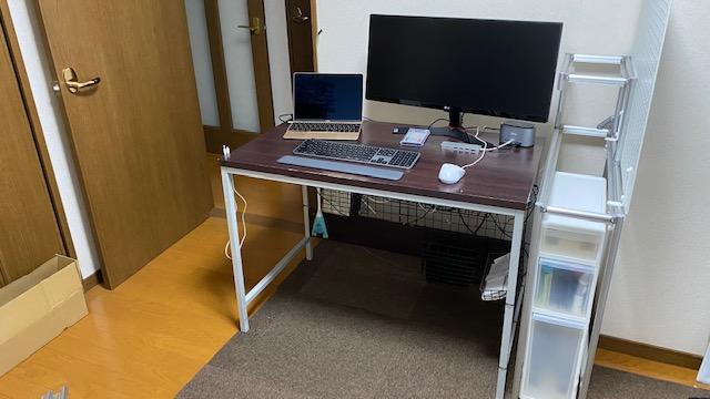 アルミパイプ PC棚製作45