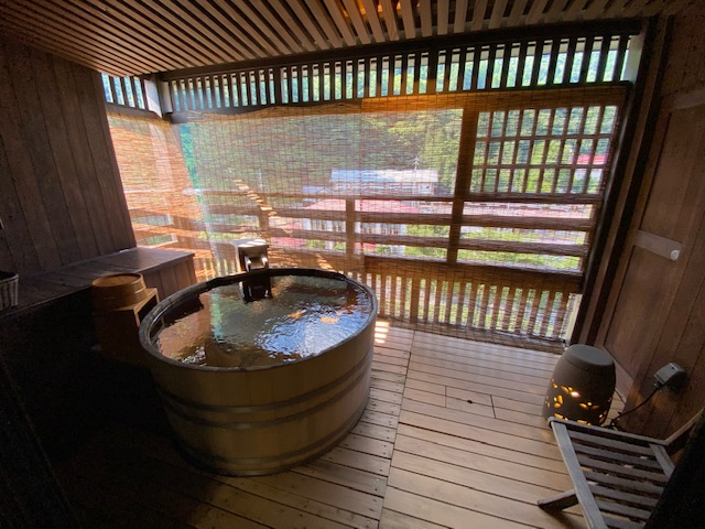 蔦屋 部屋露天風呂1