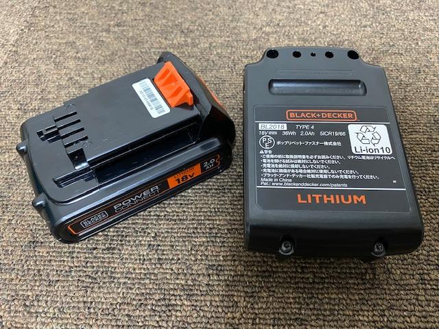 B&D 18Vバッテリー