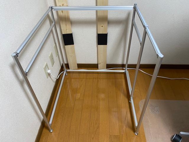 アルミフレーム プリンター棚作り方49