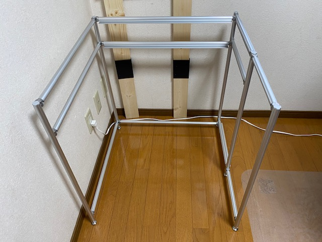 アルミフレーム プリンター棚作り方52