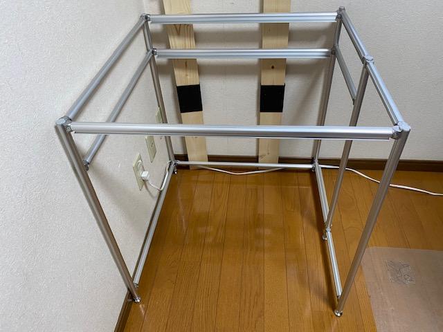 アルミフレーム プリンター棚作り方55