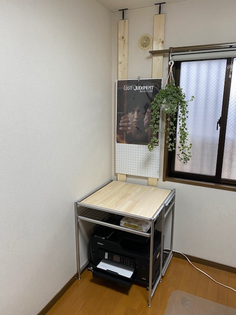 アルミフレーム プリンター棚作り方65